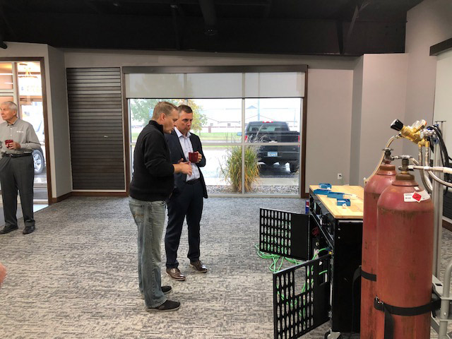 BWR Innovations team demonstrates it's innovative products for Congressman Kelly Armstrong
