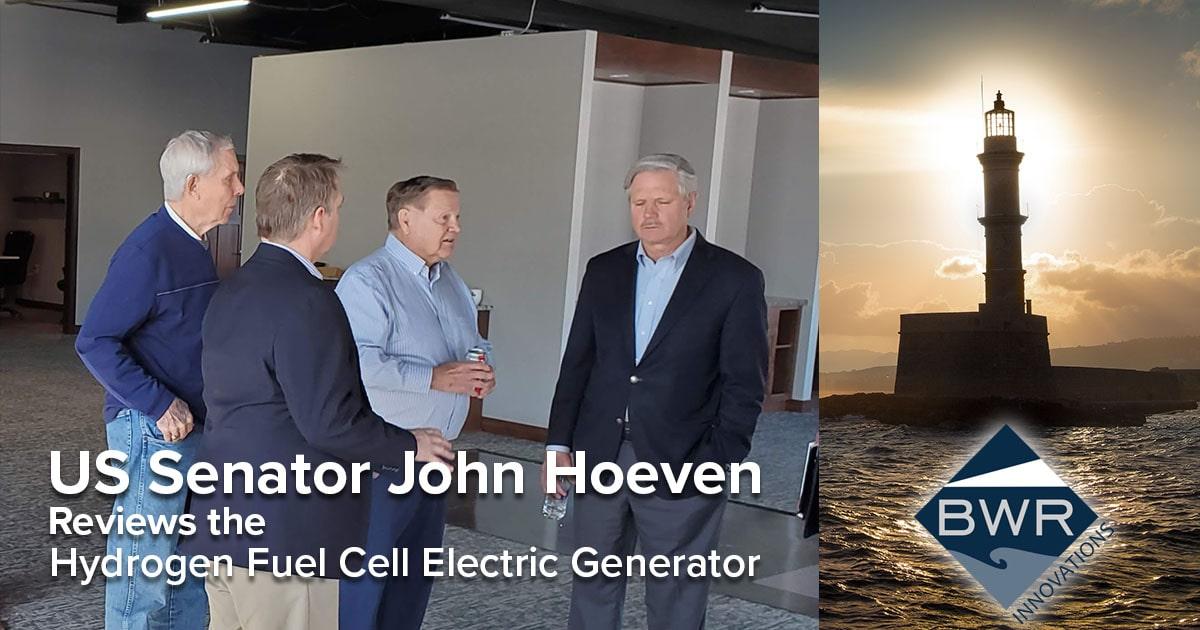 US Senator John Hoeven Reviews Hydrogen Fuel Cell Electric Generator