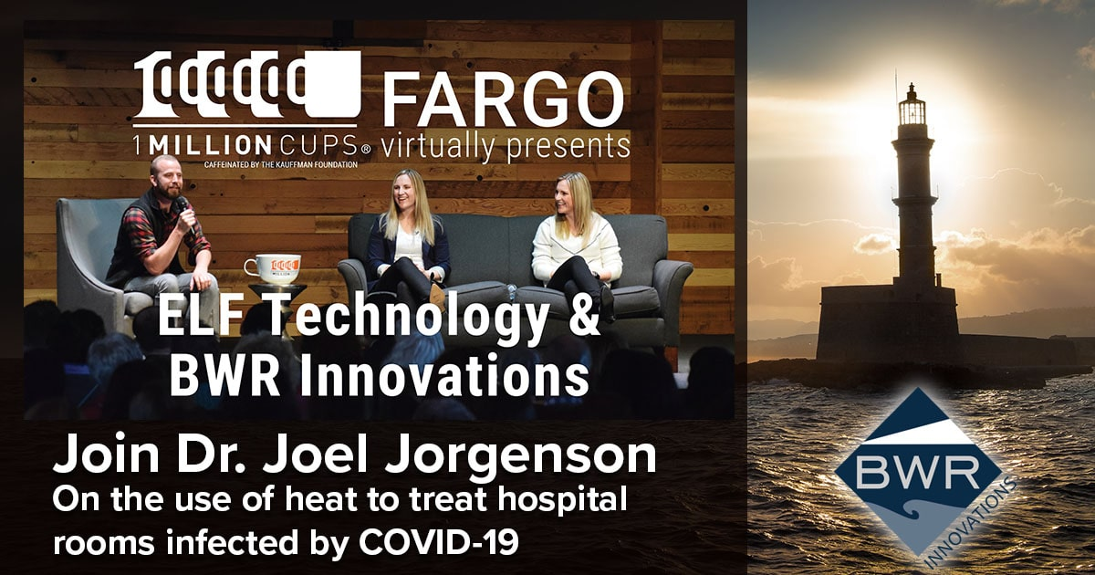 Join Dr. Joel Jorgenson as he talks about the use of heat to treat hospital rooms infected by COVID-19 at 1 Million Cups Fargo