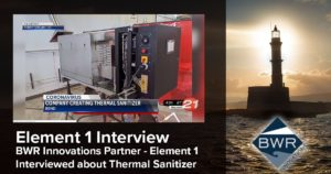 Element 1 - a BWR Innovations partner interviewed by KTVZ.com about thermal sanitizer solutions using fuel cells