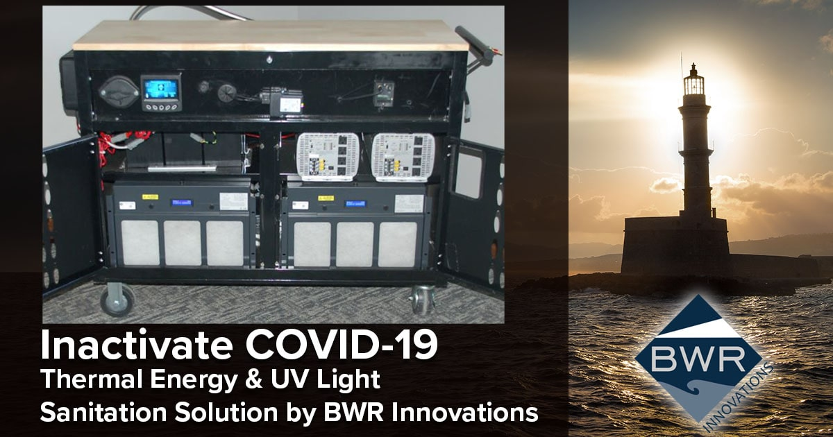 Whitepaper - Inactivate COVID-19. Thermal Energy & UV Light Sanitation Solution to Support the Reuse of Contaminated PPE's for Health Care Workers - April 2020