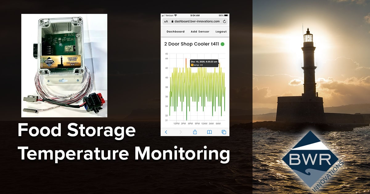 Food Storage Temperature Monitoring System - Blue Water Resolute (BWR) Innovations