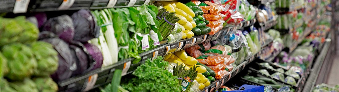 Grocery Store Produce Section wireless temperature monitoring